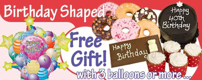Birthday Shaped Balloons