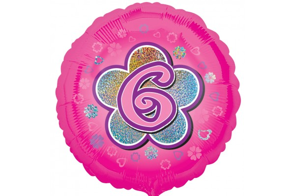 Pink Flowers 6  Foil Balloon