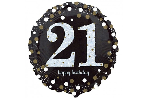Sparkling 21st Birthday Balloon