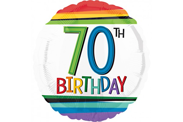 Rainbow 70th Birthday Balloon