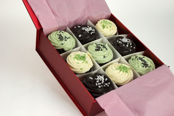 9 Mint Chocolate Temptation Cupcakes Gift Boxed