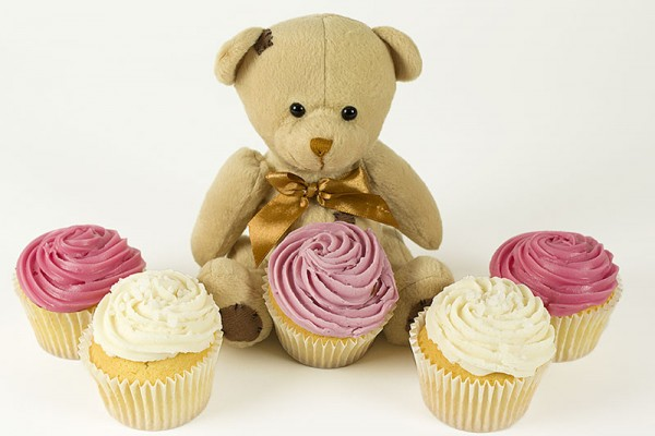Plush Bear with Cupcakes
