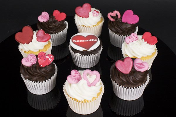 Personalised Valentines Day Cupcakes