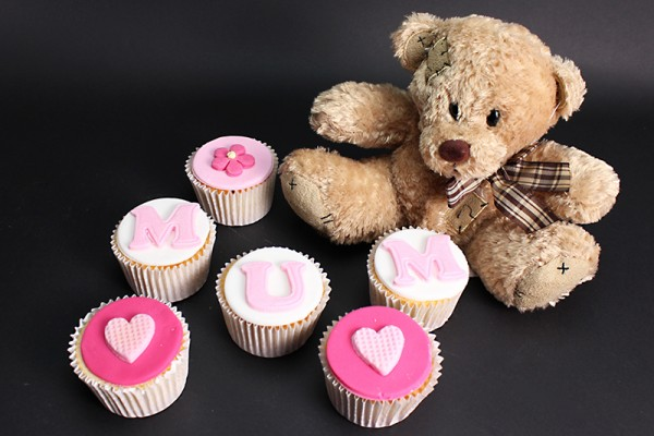 Mum's Teddy Bear Cupcakes - Box of 6