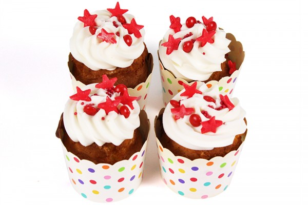 Smarties and Birthday Stars Little Cupcakes