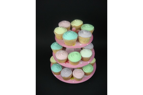 Girls Party Cupcakes With Stand (24)