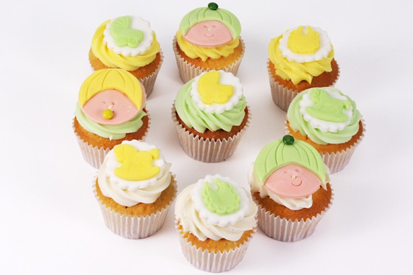 Baby Shower Cupcakes - Box of 16