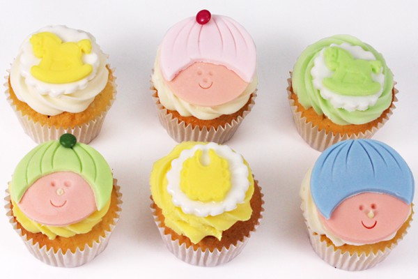Baby Shower Cupcakes - Box of 6