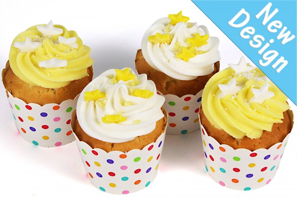 Little Lemon Birthday Stars Cupcakes