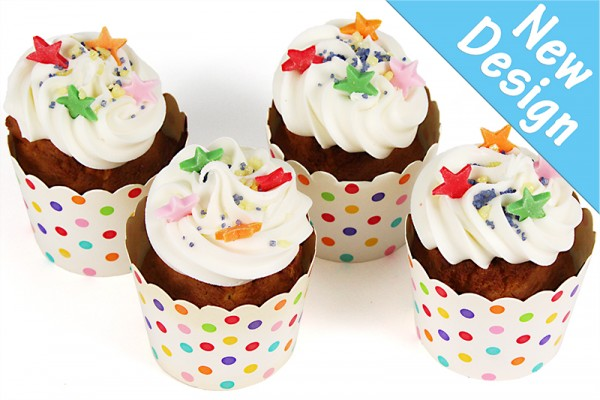 Rainbow Stars Little Birthday Cupcakes